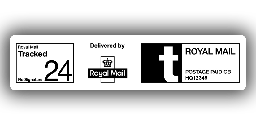 Royal Mail Tracked 24 & Tracked 24 with Signature aim to deliver your parcel the next working day and includes full online tracking, SMS/email recipient notifications and a SafePlace option if no one is home. If you require a signature on delivery choose Royal Mail Tracked 24 with Signature.