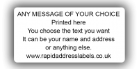 50 x 25mm (2 x 1'') White Personalised Printed/Address Labels - Roll of 500 labels