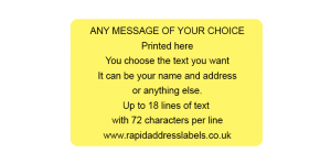 101.6 x 63.5mm (4 x 2½ inch) Yellow Personalised Printed/Address Labels - Roll of 500 labels