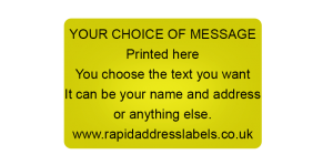 38 x 25mm (1½  x 1 inch) Gold Personalised Printed/Address Labels - Roll of 500 labels
