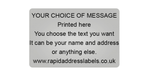 38 x 25mm (1½  x 1 inch) Silver Personalised Printed/Address Labels - Roll of 500 labels