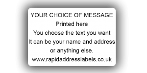 38 x 25mm (1½  x 1 inch) White Personalised Printed/Address Labels - Roll of 500 labels
