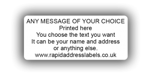 44 x 19mm (1¾ x ¾ inch) White Personalised Printed/Address Labels - Roll of 500 labels