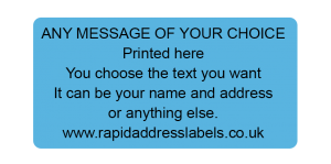 50 x 25mm (2 x 1 inch) Blue Personalised Printed/Address Labels - Roll of 500 labels