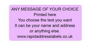 50 x 25mm (2 x 1 inch) Lilac Personalised Printed/Address Labels - Roll of 500 labels