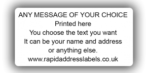 50 x 25mm (2 x 1 inch) White Personalised Printed/Address Labels - Roll of 500 labels
