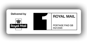 Royal Mail 1st Class PPI Labels, 60 x 21mm - Roll of 500