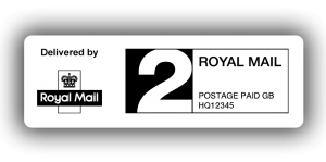 Royal Mail 2nd Class PPI Labels, 60 x 21mm - Roll of 500
