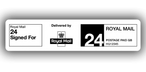 Royal Mail 24 Signed For, PPI Labels, 85 x 20mm - Roll of 500
