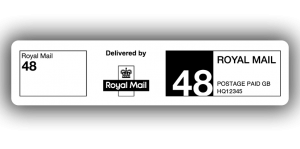 Royal Mail 48, PPI Labels, 85 x 20mm - Roll of 500