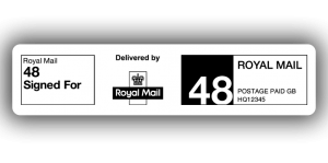 Royal Mail 48 Signed For, PPI Labels, 85 x 20mm - Roll of 500