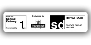 Royal Mail Special Delivery 1pm, PPI Labels, 85 x 20mm - Roll of 500