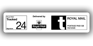 Royal Mail Tracked 24 Signed For, PPI Labels, 85 x 20mm - Roll of 500
