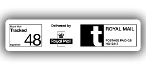 Royal Mail Tracked 48 Signed For, PPI Labels, 85 x 20mm - Roll of 500