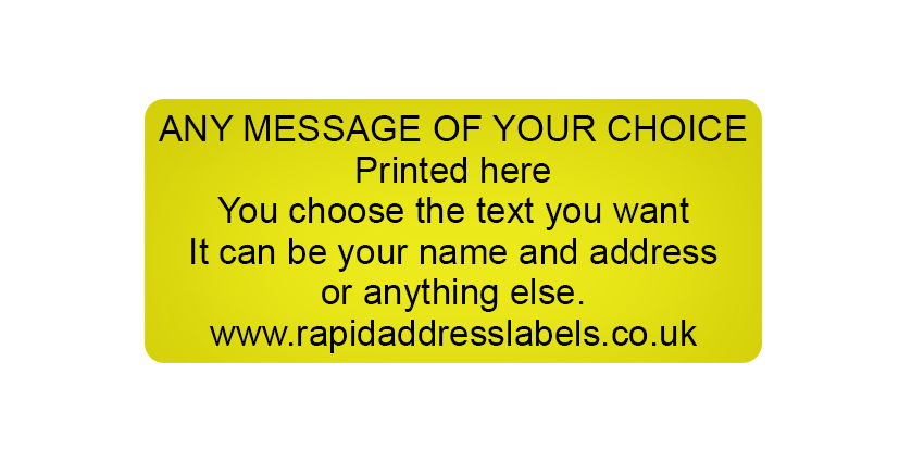 gold labels printed gold 44 x 19mm labels rapid address labels