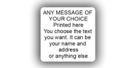 38 x 38mm (1½  x 1½ inch) White Personalised Printed/Address Labels - Roll of 500 labels