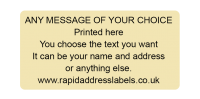 50 x 25mm (2 x 1 inch) Matt Cream Personalised Printed/Address Labels - Roll of 500 labels