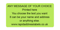 50 x 25mm (2 x 1 inch) Green Personalised Printed/Address Labels - Roll of 500 labels