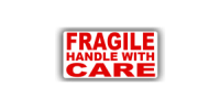 Message Labels - Fragile Handle With Care, 50 x 25mm - Roll of 500