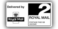 Royal Mail 2nd Class PPI Labels, 65 x 35mm - Roll of 500